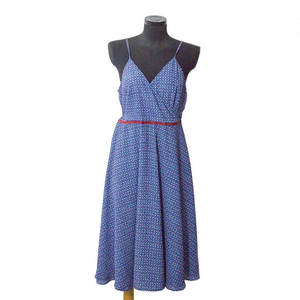 outlet store f7fc9 17b31 Il blu e il rosso: il vestito incrociato! - Di Nuvole Di Cuori