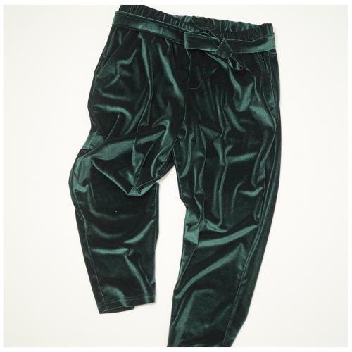 PantaloneVellutoVerde